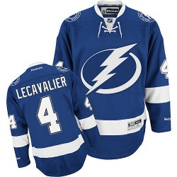 Adult Authentic Tampa Bay Lightning Vincent Lecavalier Royal Blue Home Official Reebok Jersey